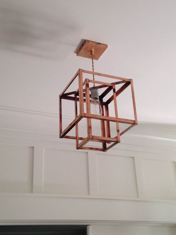 Pendant Light Industrial Lighting Geometric door KhalimaLights