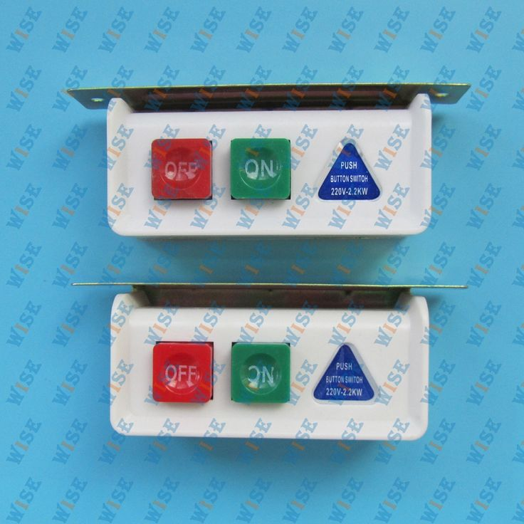 SWITCH ON/OFF BOX FOR INDUSTRIAL SEWING MACHINES 110VOLT  (2PCS)