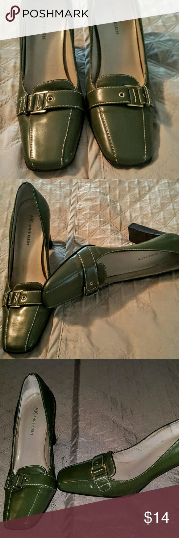 Anne Klein Olive Green Shoes Anne Klein Olive Green Shoes. Size 7. Slight wear which is visible in the pictures. Anne Klein Shoes Heels