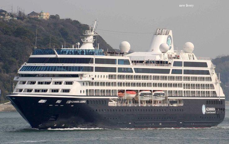 AZAMARA JOURNEY. : Azamarsa Journey Inc. (Beneficial owner: Royal Caribbean Cruises Ltd. - USA). : Azamara Club Cruises. R-Six 2000 ~ 2003. Blue Star 2003 ~ 2005. Blue Dream 2005 ~ 2007. Celebrity Journey 2007. 2007 ~ present, today's name. Παρθενικό ταξίδι το 2000. 30.277 GT ~ 180,40 μ.μ. ~ 25,46 μ.πλάτος - 9 κατ/τα ~ 694 ~ 702 επ. ~ 407 ατ. πλ.