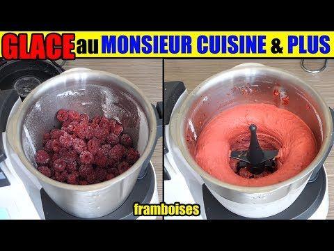 glace monsieur cuisine plus sorbet framboise fruits congelés fraise ananas fruit rouge etc.. - YouTube