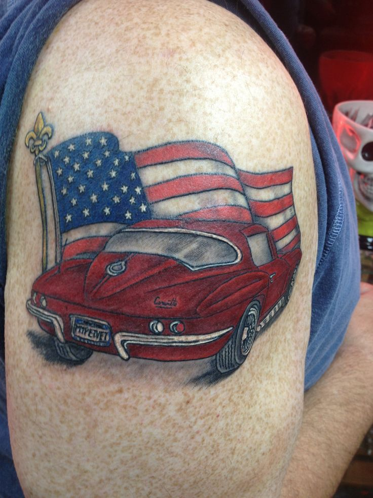 corvette tattoo