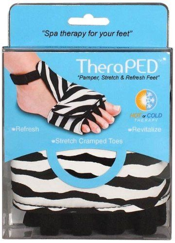 Theraped Hot Cold Therapy for Sore Feet Each by Therapeds. $8.18. TheraPed foot therapy support pampers, stretches and refreshes sore and aching feet. Thera Peds feet therapy incorporates a hot/cold gel packs to soothe sore feet. Comfortable TheraPeds is made of a soft material that is soothing on the skin. Toe spacers gently realign toes and makes the Thera Peds comfortable to wear. Therapeds are easy to wear and easy to put on. Pamper your sore feet with soothing cool or warm c...