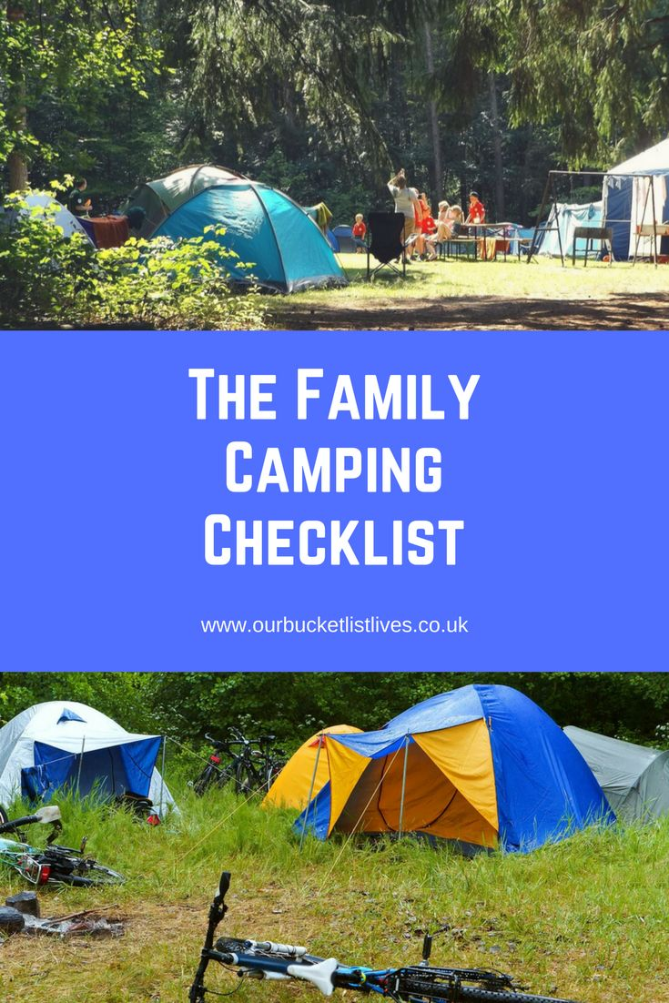 The Ultimate family camping checklist. Never leave home without your essential camping items. #camping #checklist #toptips #family #familytravel