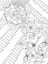 doodle art alley coloring sheet - Doodle Coloring Pages