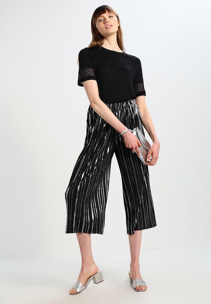 KIOMI Pantaloni - black/silver - Zalando.it