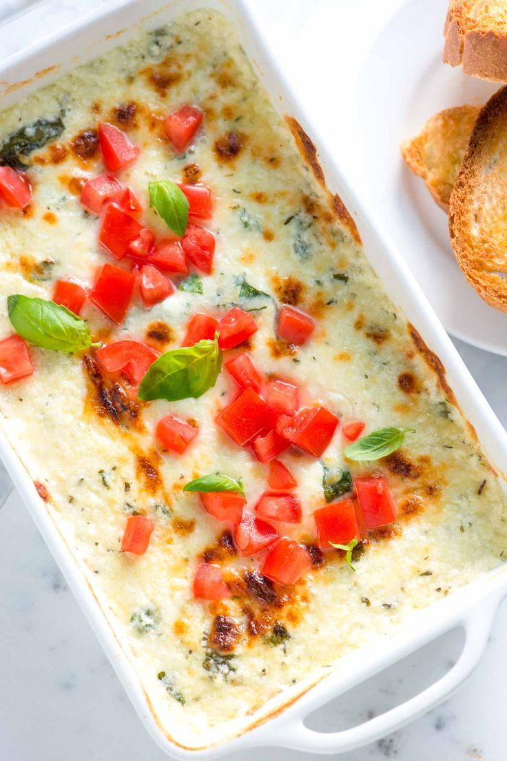 How to Make Cheese Dip with Tomatoes and Basil