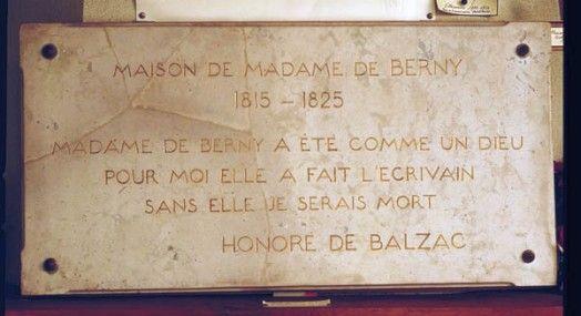 Plaque de la maison de madame de Berny, Villeparisis ; http://translate.google.com/translate?hl=en&sl=fr&u=http://fr.topic-topos.com/plaque-de-la-maison-de-balzac-villeparisis&prev=search