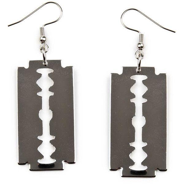 Earrings razor - Randomizer   shock.se - Alternativt mode - Kläder,... ❤ liked on Polyvore featuring jewelry, earrings, accessories, nakit and earrings jewelry