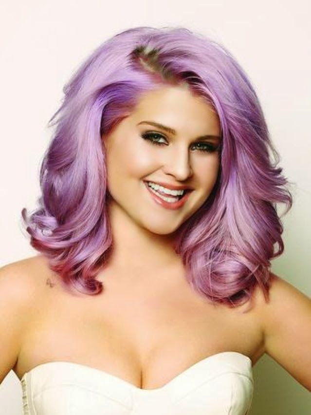 Fab purple hair - Love Kelly Osbourne!