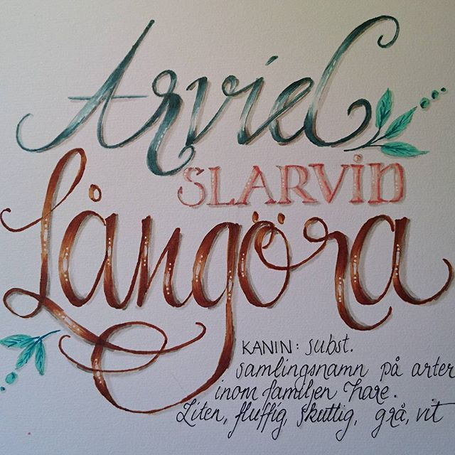 #handlettering #calligraphy #handwriting #lettering #art #writeing #handtype #typography #typer #handskrift #bokstäver #handmadefont