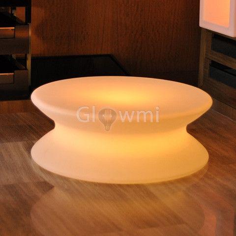 The Low Boy Circular LED Coffee Table - Glowmi