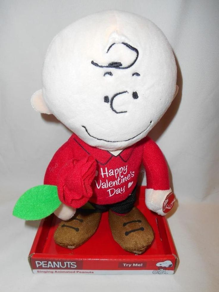 Peanuts Charlie Brown w Rose Valentines Day He Dances & is Musical NEW