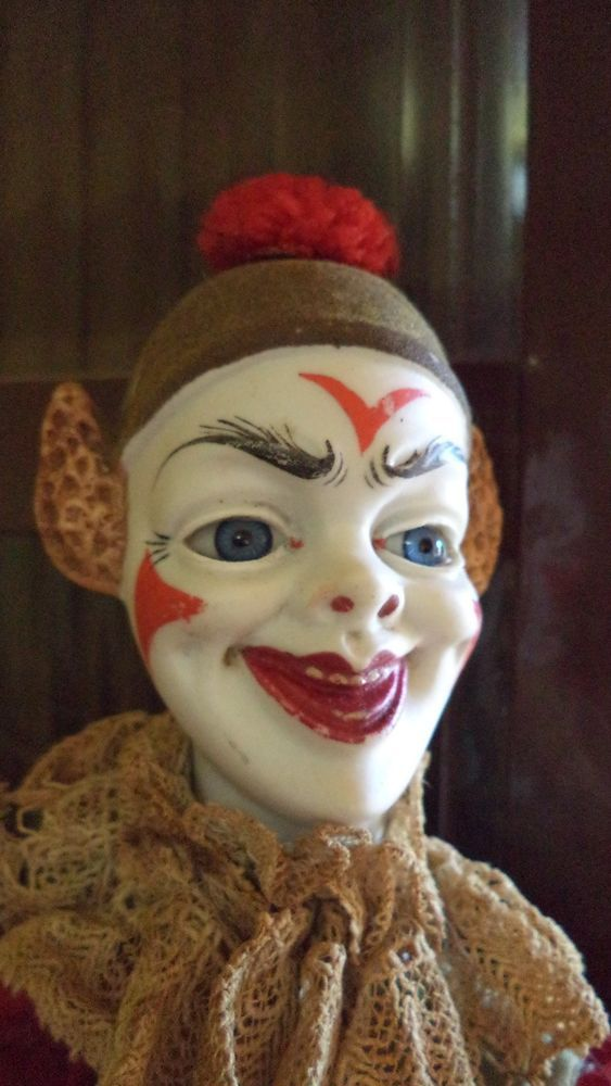 458 Best Clown Dolls Images On Pinterest Old Fashioned Toys Antique Toys And Clowns
