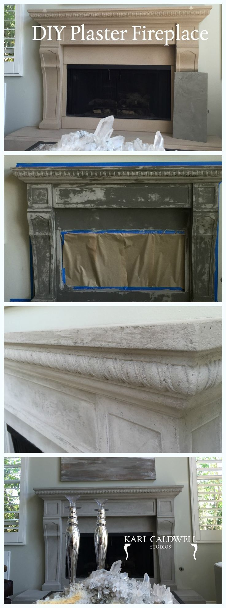 Learn to refinish your old fireplace with plaster! https://sellfy.com/p/hQdA/