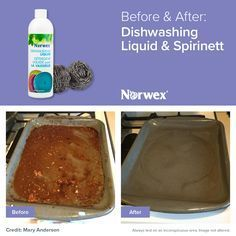 Norwex Before and After Dishwashing Liquid and Spirinett http://www.fastgreenclean.com/2016/08/norwex-before-and-after-photos.html