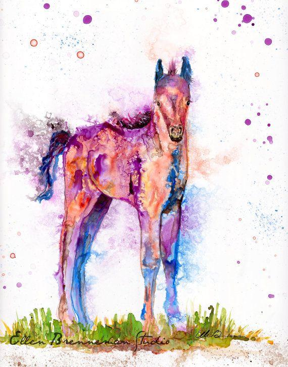 Spirit of Colt animal totem from my Power Animals of the Planet series, Ellen Brenneman Studio