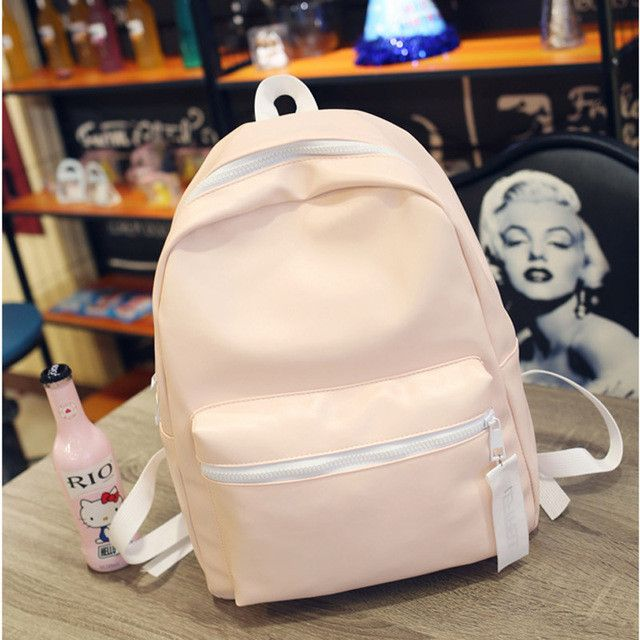 Silver Backpack Women Glossy Backpacks For Teenage Girls School Bags Holographic PU Leather Pink Students Bag mochila XA495H