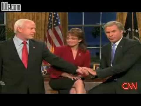 SNL - Will Ferrell as George W. Bush endorses John McCain and Sarah Palin, 2008 Election
