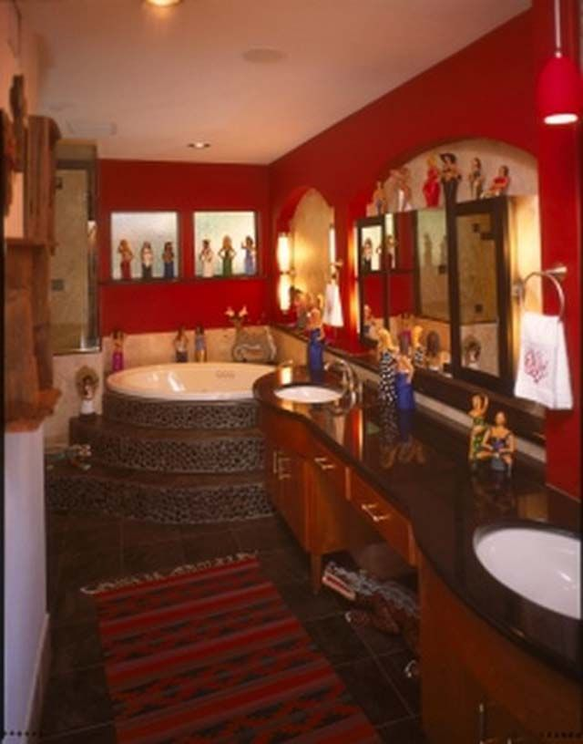 Mexican Decorating Bathroom Style Tips Colorfull