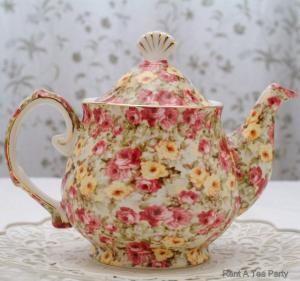 Cottage Rose Teapot  http://www.rentateaparty.com/teapot-rental-cottage-rose-pattern