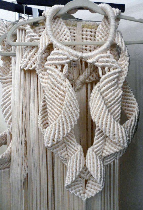 Modern Macrame Fashion - contemporary textiles design; creative fabric manipulation techniques // Eleanor Amoroso