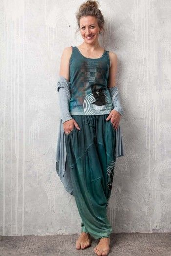 Turkish trousers. By Adéla Urbanová Fancy and colorful designed story. Handmade coloured, dyed and printed items.