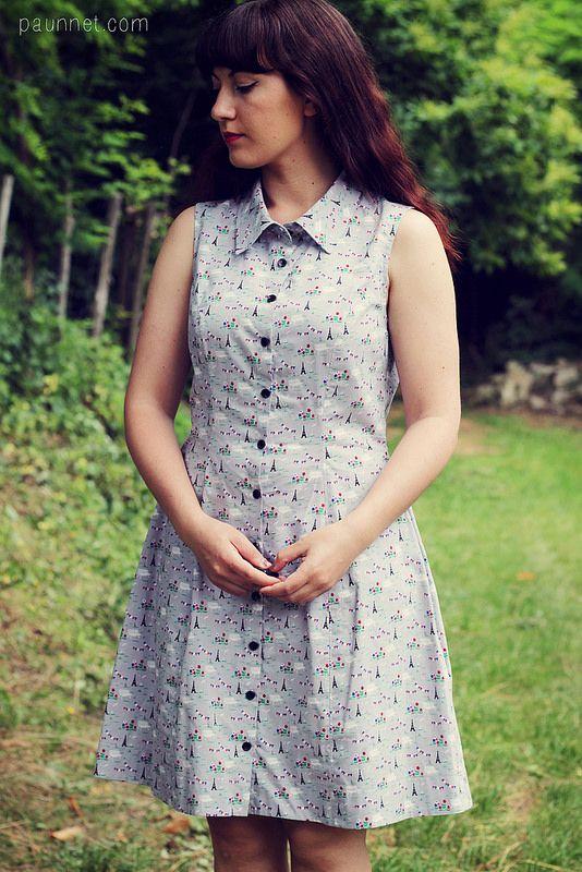 :: paunnet ::: Bleuet dress with View of the Eiffel Tower