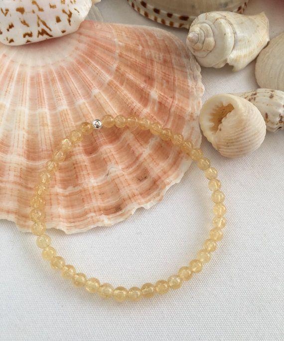 Citrine bracelet, November birthstone bracelet, November gift, birthstone jewellery, yellow bracelet, girlfriend gift, semi precious, Autumn