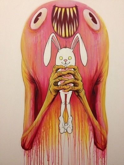 "Bunnywith ""Hungry New Owner"" - Alex Pardee"