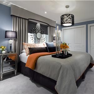 Very cool bedroom idea. I love the mirror night stands