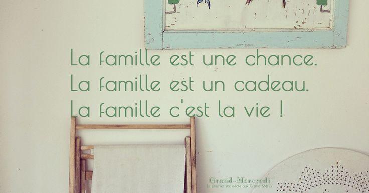 La famille est une chance. La famille est un cadeau. La famille c'est la vie ! #avoirunefamillestunechance