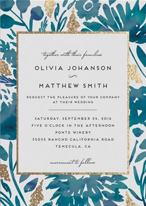 Find the perfect wedding invitation that will highlight your unique style for your wedding day. Shop Watercolor Delight Foil-Pressed Wedding Invitations by Petra Kern at minted.com