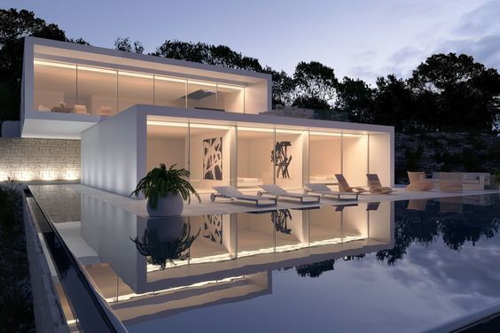 Splendid villa in Ibiza, Spain by Gallardo Llopis Arquitectura.