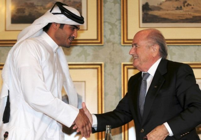During a visit to Doha last year, FIFA President Sepp Blatter promised that the 2022 World Cup would not clash with the 2022 Winter Olympic Games ©AFP/Getty Images