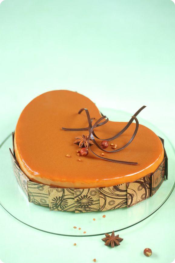 Яблочно-карамельный торт / Torta mousse de maçã e caramelo