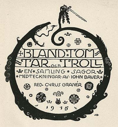 Illustration: John Bauer's Bland Tomtar Och Troll