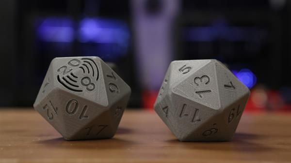 Get ready to roll with 3D printed talking 20-sided dice