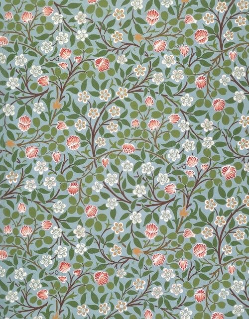 "artmastered: "" William Morris, Clover (wallpaper design), 19th century """