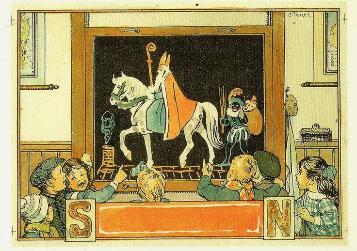 Sint op school, 1929, Cornelis Jetses 1873-1955
