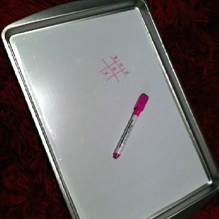 Road trip happiness= $ store Magnetic Cookie sheet + contact paper makes a magnetic dry erase board