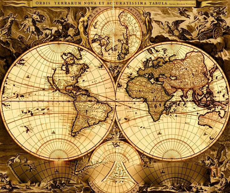 The Best Vintage World Maps Ideas On Pinterest Fossil Ladies - World maps images