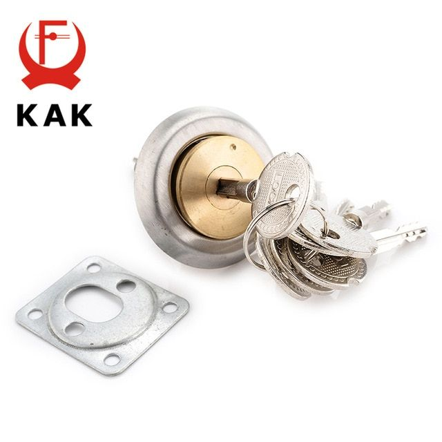 Kak Entrance Door Lock Cylinder Brass Copper Core With Cross Keys For Home Gate Furniture Hardware Review With Images Brass Copper Entrance Door Locks Furniture Hardware