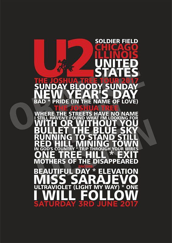 U2  Joshua Tree Tour 2017  Soldier Field Chicago  3rd &