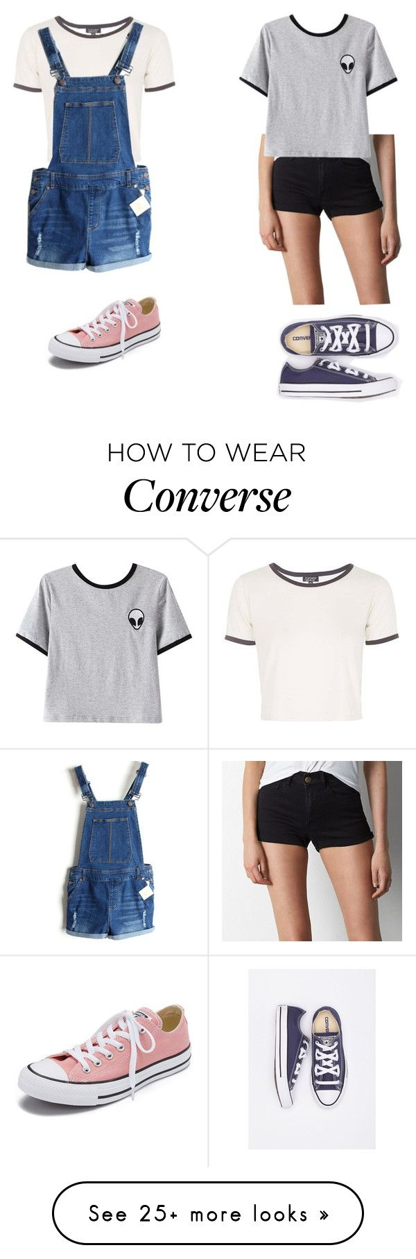 """Converse"" by maybeckc on Polyvore featuring Topshop, Converse, American Eagle Outfitters and Chicnova Fashion"