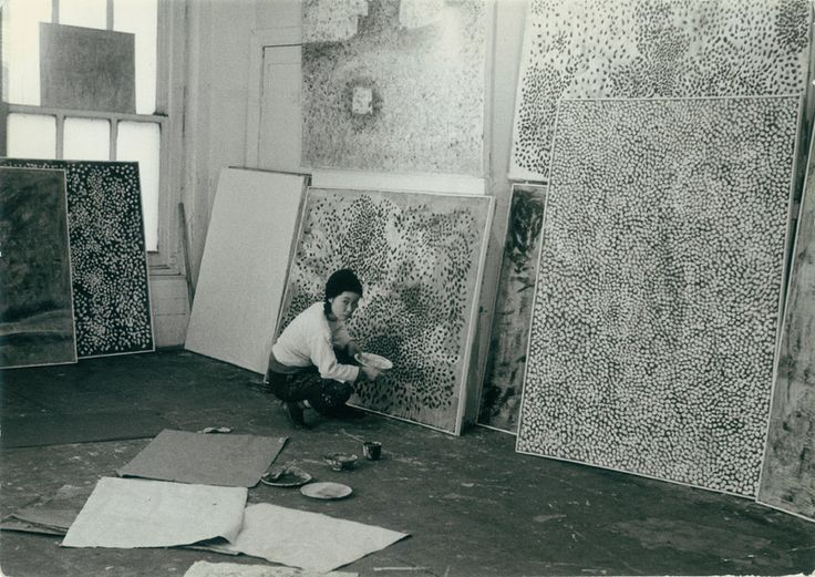 yayoi kusama in her new york studio