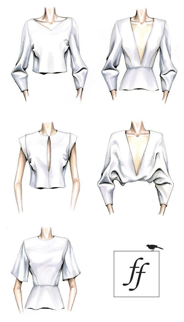 Fashion Sketches Blouses