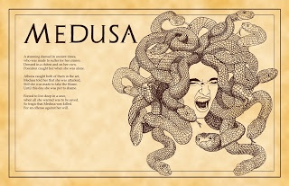 Greek Myths my opinion is that medusa is kind of wield but awesome at the same time