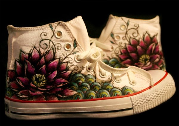 Hand Painted Sneakers by Nanda Corrêa, via Behance
