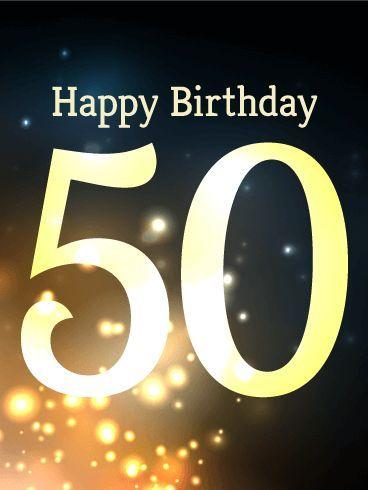 50th Birthday Card | Birthday & Greeting Cards by Davia ...